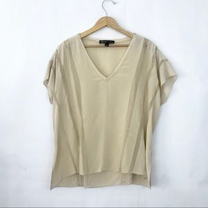 Elizabeth & James | Nude Silk Top Size M